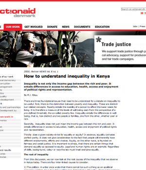 How to understand inequality in Kenya
