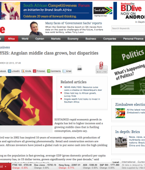 NEWS ANALYSIS: Angolan middle class grows, but disparities loom large