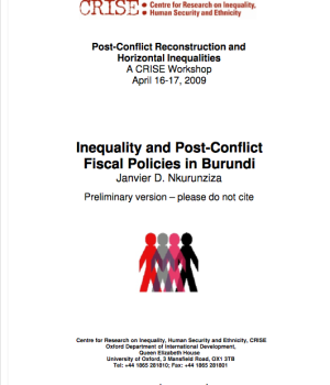 Inequality And Post-Conflict Fiscal Policies In Burundi