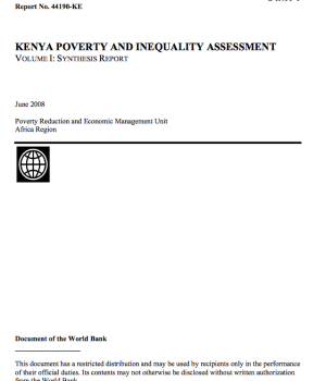 Kenya Poverty And Inequality Assessment
