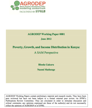 Poverty, Growth, and Income Distribution in Kenya: A SAM Perspective