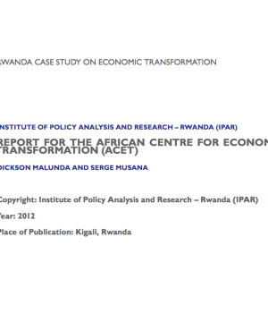 Report: Rwanda Case Study on Economic Transformation