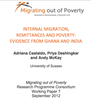 Internal Migration, Remittances And Poverty:  Evidence From Ghana And India