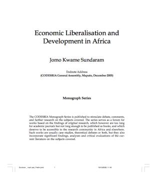 Economic Liberalization  and Development in Africa