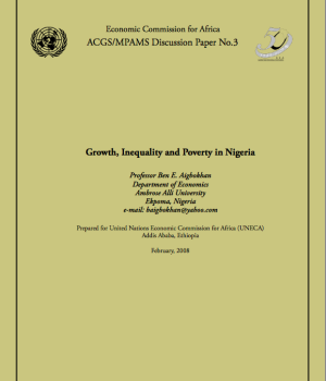 Growth, Inequality and Poverty in Nigeria