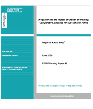 Inequality and the Impact of Growth on Poverty: Comparative Evidence for Sub-Saharan Africa
