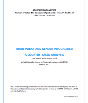 Trade Policy And Gender Inequalities:  A Country-Based Analysis
