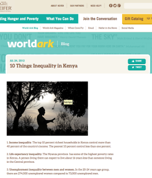 10 Things: Inequality in Kenya