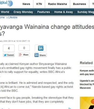Will Binyavanga Wainaina change attitudes to gay Africans?