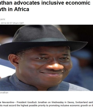 Jonathan advocates inclusive economic growth in Africa