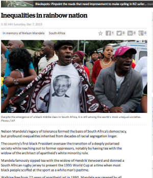 Inequalities in rainbow nation