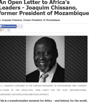 Former Mozambique President Calls For LGBT Equality in Africa