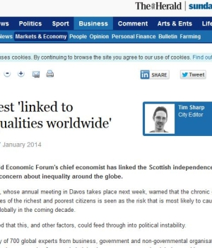 Unrest 'linked to inequalities worldwide.