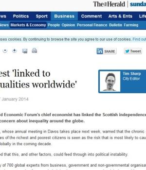 Unrest 'linked to inequalities worldwide.