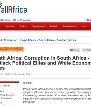 South Africa: Corruption in South Africa – a Tale of Black Political Elites and White Economic Elites
