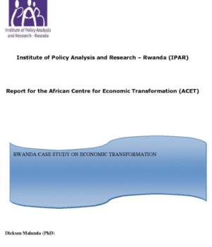 Report for the African Centre for Economic Transformation ACET