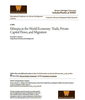 Ethiopia in the World Economy: Trade, Private Capital Flows, and Migration