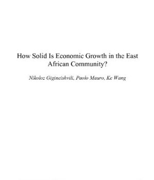 How Solid Is Economic Growth in the East African Community?