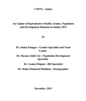 An Update of Reproductive Health, Gender, Population and Development Situation in Sudan
