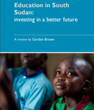 Education in South Sudan: Investing in a better future