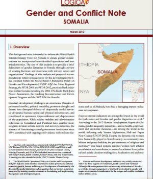 Gender and Conflict Note Somalia