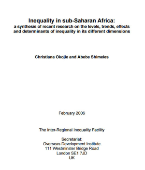 Inequality in sub-Saharan Africa