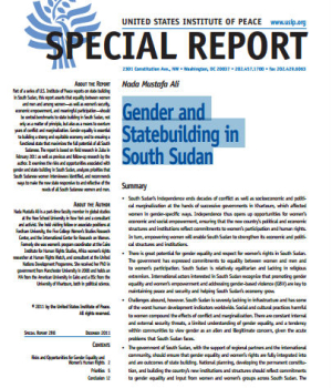 Gender and Statebuilding in South Sudan