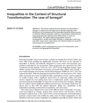 Inequalities in the Context of Structural Transformation: The case of Senegal